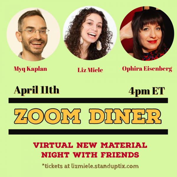 April 11 zoom diner poster